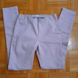 72% cotton rose skinny trousers